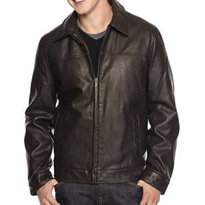NWT MENS Tommy Hilfiger Faux Leather Jacket (XL)